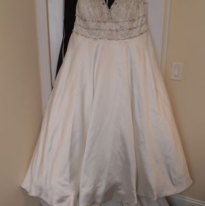 Plus size Jasmine collection wedding dress